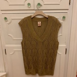 Tan Cap Sleeve Sweater